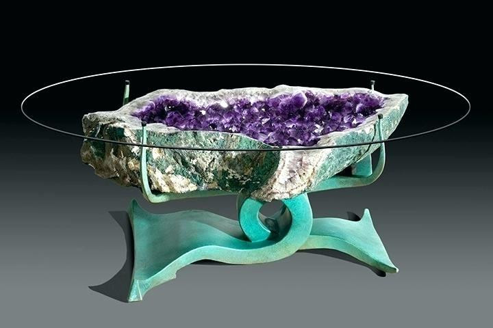 Amethyst Geode Coffee Table to Spruce up Your Living Room 2