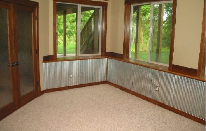Metal Wainscoting in Corrugated Style