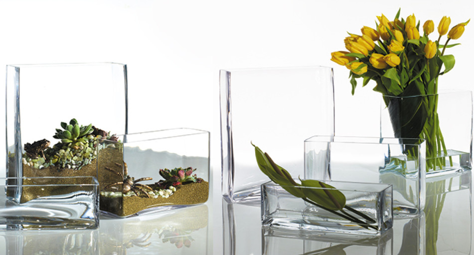 Rectangle Glass Vase