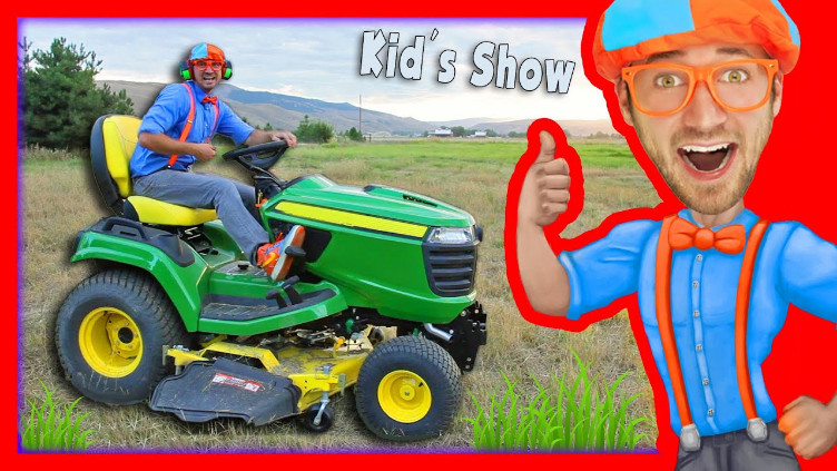 Blippi Lawn Mower Video