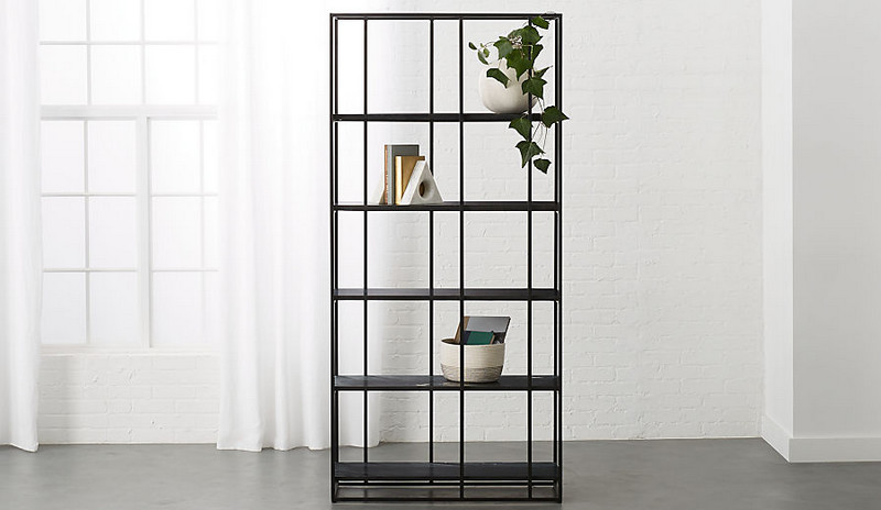 CAGED BLACK MARBLE BOOKCASE