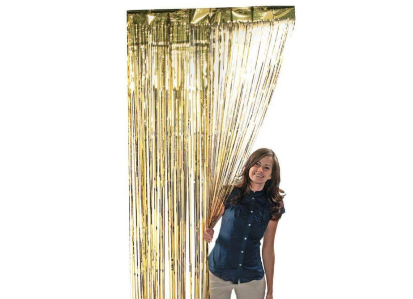 Foil Fringe Curtain Dollar Tree