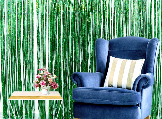 Foil Fringe Curtain Dollar