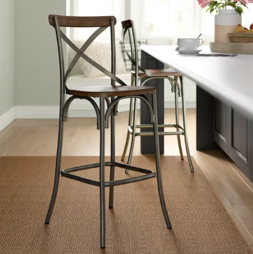 Isaac Mizrahi Bar stool with backrest