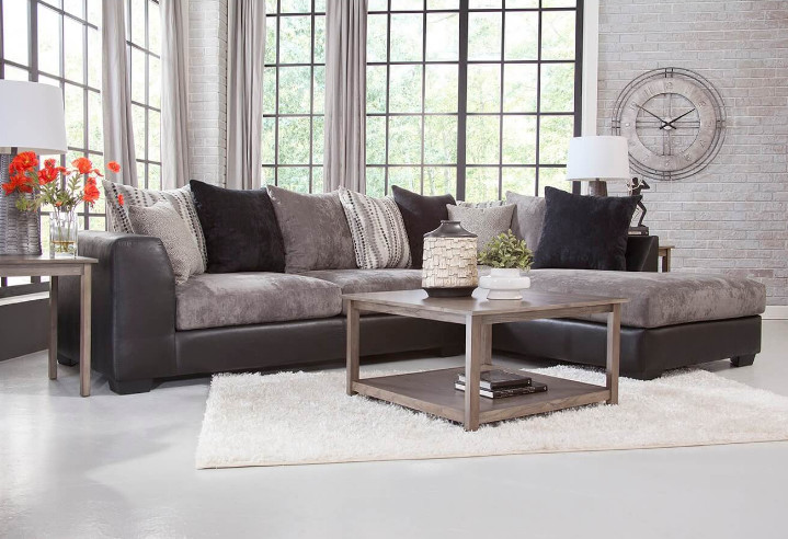 Cuddler Sectional with Chaise Sofa to Bring Maximum Comfort to Your Home