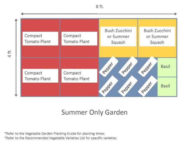 4x8 Raised Bed Vegetable Garden Layout with Several Ideas to Arrange the Plants 3
