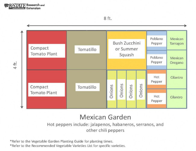 4x8 Raised Bed Vegetable Garden Layout with Several Ideas to Arrange the Plants 6