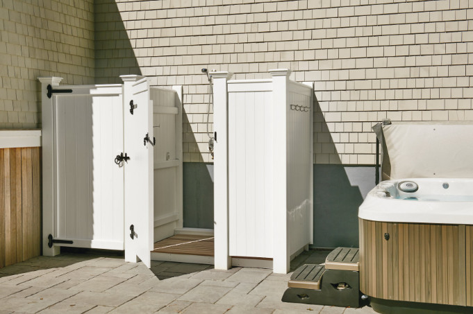 Azek Outdoor Shower Kits with High Durable Products and Additional Features