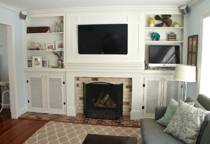 Steps for Mounting TV above Fireplace Hiding Wires