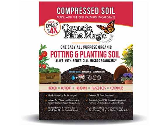 Organic Plant Magic Compressed Organic Potting-Soil