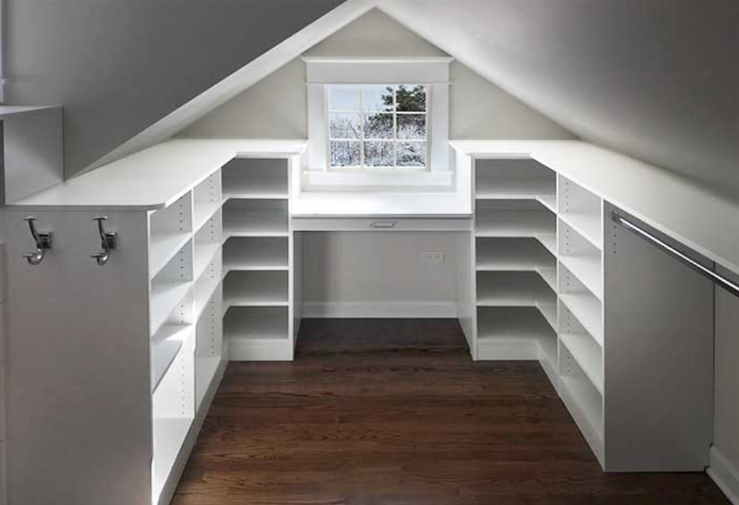 Sloped Ceiling Closet Solutions and Know What's the Essentials First before Making the Closet